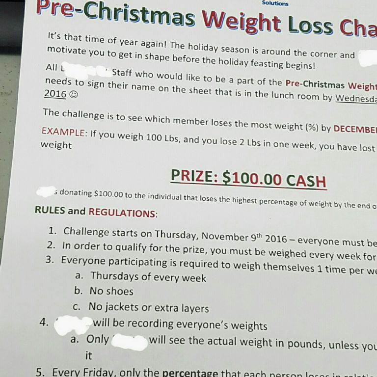 Workplace Weight Loss Challenge