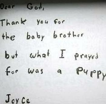 im sure if she could put her thoughts into words she would be writing to god about her little brother heres what that days note might have said