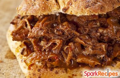 Carol's Slow Cooker BBQ Beef (crockpot, barbeque, slowcooker, crock pot)