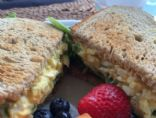 Eggstra Light Egg Salad on Rye