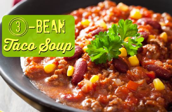 Three Bean Taco Soup